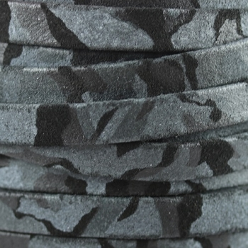 Flat Camo Suede 10mm Leather per METER- Navy