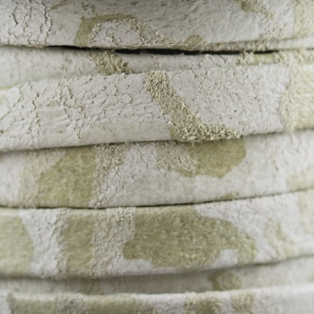 Flat Camo Suede 10mm Leather per METER - Beige