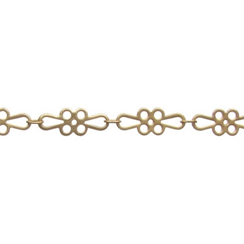 Flower Chain - Matte Gold - per foot