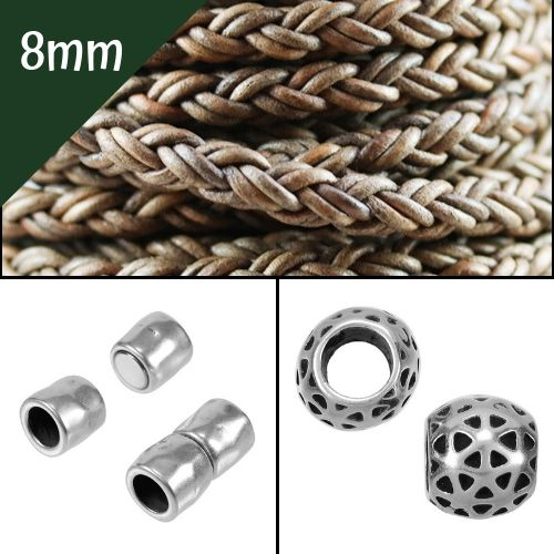 8mm Round Beading Cord, Clasps and Components