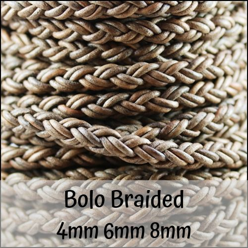 Bolo Braided Round Leather