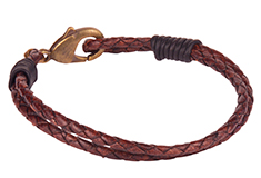 Ravel Round Braided Leather Bracelet