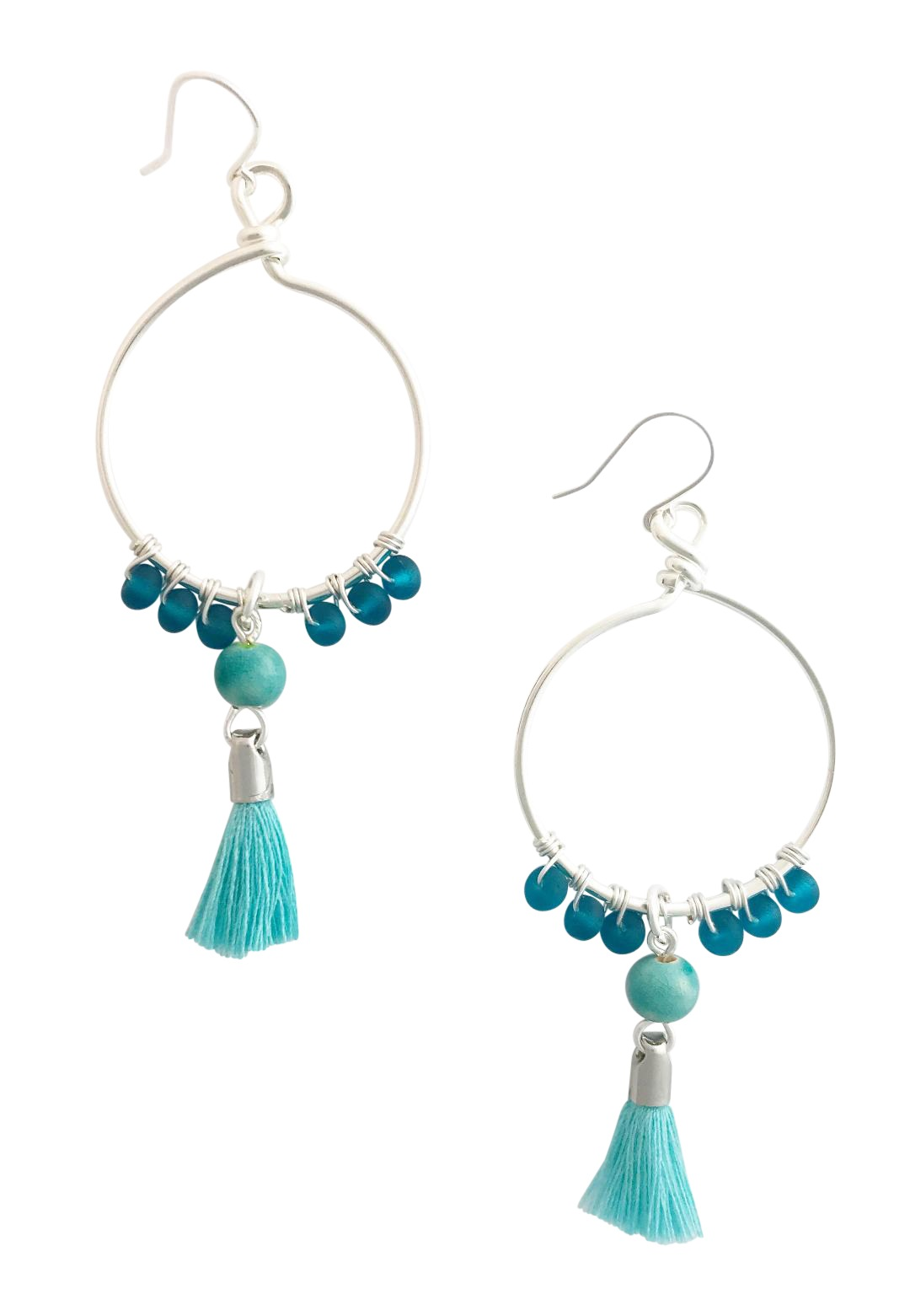 Twisted Teal Earrings