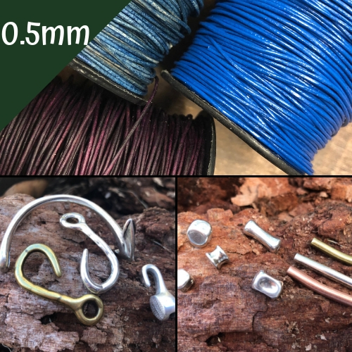 0.5mm Round Beading Cord, Clasps and Components