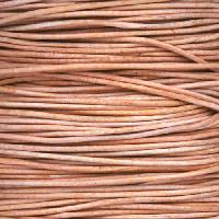 0.5mm Round Leather Cord per 25M SPOOL - Natural