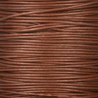 0.5mm Round Leather Cord - Brown