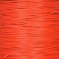 0.5mm Round Leather Cord - Red - per yard