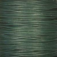 0.5mm Round Leather Cord - Dark Green