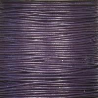 0.5mm Round Leather Cord - Purple