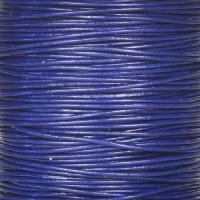 0.5mm Round Leather Cord - Royal Blue