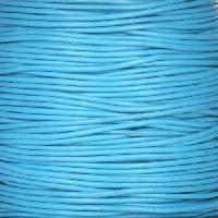 0.5mm Round Leather Cord - Turquoise - per yard