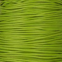 0.5mm Round Leather Cord - Apple Green - per yard