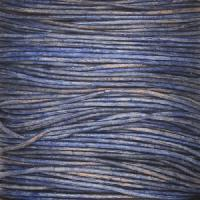 0.5mm Round Leather Cord - Natural Blue