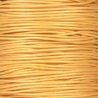 0.5mm Round Leather Cord - Metallic Gold