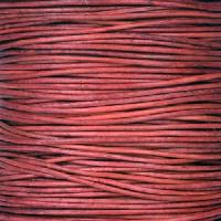 0.5mm Round Indian Leather Cord per 25M SPOOL - Natural Primrose