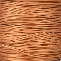 0.5mm Round Leather Cord - Metallic Copper