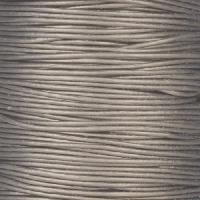 0.5mm Round Leather Cord - Metallic Grey