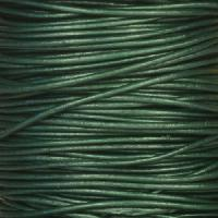 0.5mm Round Leather Cord - Metallic Ocean Green