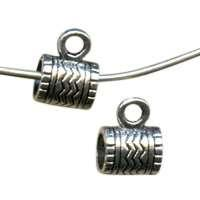 9x7mm Wavy Lines Bail Pewter Connector