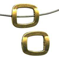 15mm Offset Square Pewter Bead Frame - Gold Finish