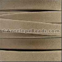 Arizona 10mm Flat Leather Cord - Sand
