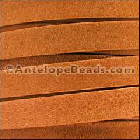 Arizona 10mm Flat Leather Cord - Burnt Orange
