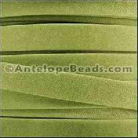 Arizona 10mm Flat Leather Cord per 20M Spool - Key Lime Green