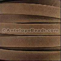 Arizona 10mm Flat Leather Cord per 20M Spool - Saddle
