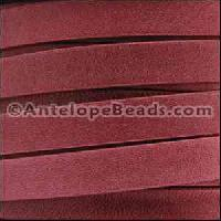 Arizona 10mm Flat Leather Cord per 20M Spool - Red