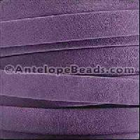 Arizona 10mm Flat Leather Cord per 20M Spool - Violet