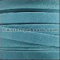 Arizona 10mm Flat Leather Cord per 20M Spool - Turquoise