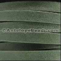 Arizona 10mm Flat Leather Cord per 20M Spool - Forest Green