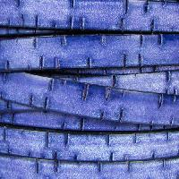 Bark 10mm Flat Leather Cord - Indigo - per inch