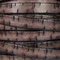 Bark 10mm Flat Leather Cord per 10M Spool - Brown