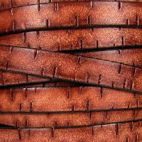 Bark 10mm Flat Leather Cord per 10M Spool - Tan