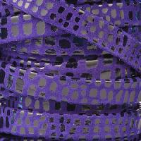 Cancun 10mm Flat Leather Cord - Purple