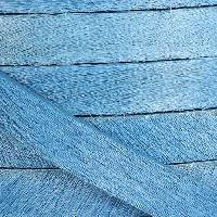 10mm flat HAIR ON leather SKY BLUE - per inch