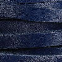 10mm flat HAIR ON leather NAVY BLUE - per inch