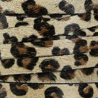 10mm flat HAIR ON leather Leopard Print - per inch