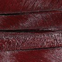 10mm flat HAIR ON leather BURGUNDY - per inch