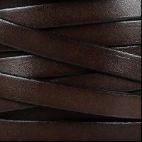10mm Flat Leather Cord - Chocolate Brown - per inch
