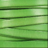 10mm Flat Leather Cord - Distressed Pastel Green - per inch