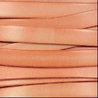 10mm Flat Leather Cord - Distressed Pastel Orange - per inch