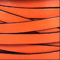 10mm Flat Leather Cord - Rust - per inch