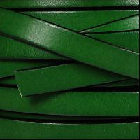 10mm Flat Leather Cord - Bottle Green