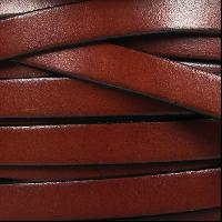 10mm Flat Leather Cord - Mahogany - per inch