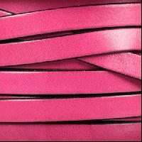 10mm Flat Leather Cord - Fuchsia
