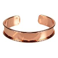 10mm Glue-In Cuff Flat Leather Cord - Rose Gold
