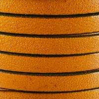 Camel 10mm Flat Leather Cord - CARAMEL - per inch