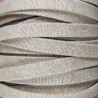 Faded Denim 10mm Flat Knit Cord - Beige